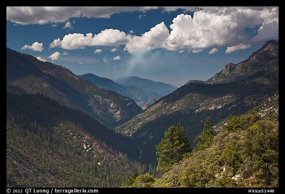 South Forks of the Kings River valley. Kings Canyon National Park (color)