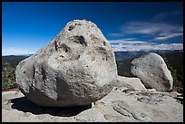 Glacial erratics, Buena Vista. Kings Canyon National Park, California, USA. (color)