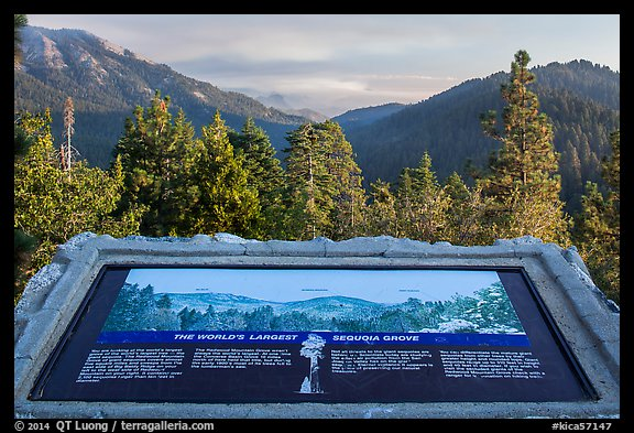 Interpretive sign, Redwood Mountain. Kings Canyon National Park (color)
