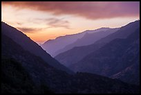 Cedar Grove Valley at sunset. Kings Canyon National Park ( color)