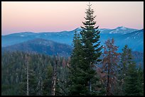 Mountains at dawn from Kings Canyon Overlook. Kings Canyon National Park ( color)