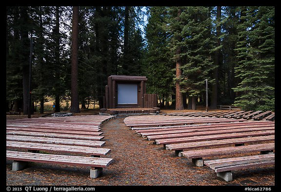 Amphitheater, Sunset Campground. Kings Canyon National Park (color)