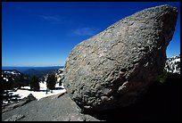 Glacial erratic rock. Lassen Volcanic National Park, California, USA. (color)