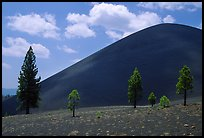 Cinder cone. Lassen Volcanic National Park ( color)