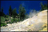 Sulphur works thermal area. Lassen Volcanic National Park, California, USA. (color)