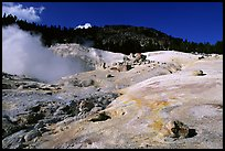 Colorful deposits in Bumpass Hell thermal area. Lassen Volcanic National Park, California, USA. (color)