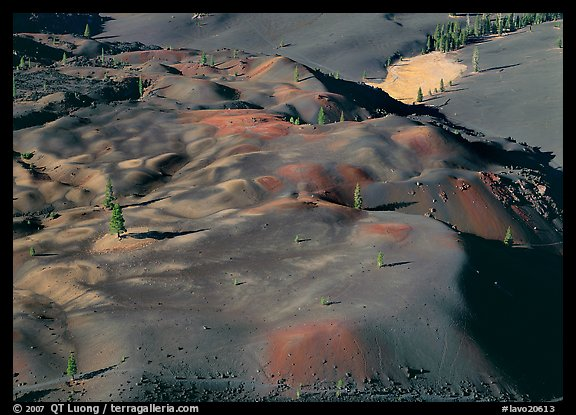 Painted dunes seen from above. Lassen Volcanic National Park (color)