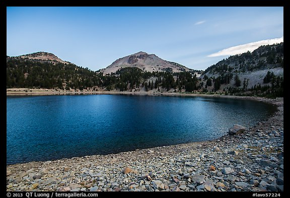 Lake Helen at dawn, late summer. Lassen Volcanic National Park (color)