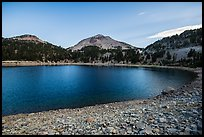 Lake Helen at dawn, late summer. Lassen Volcanic National Park ( color)