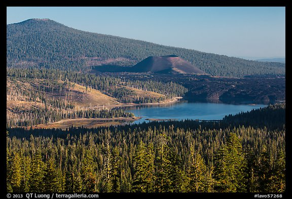 Prospect Peak, Cinder Cone, and Snag Lake. Lassen Volcanic National Park (color)
