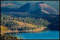 Cinder Cone, Fantastic Lava Beds, and Snag Lake. Lassen Volcanic National Park ( color)