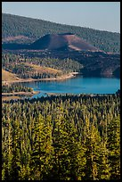Cinder Cone and Snag Lake from Inspiration Point. Lassen Volcanic National Park ( color)
