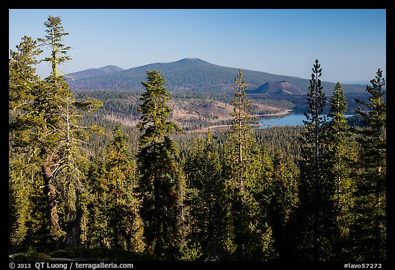 Prospect Peak, Cinder Cone, and Snag Lake from Inspiration Point. Lassen Volcanic National Park (color)