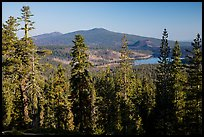 Prospect Peak, Cinder Cone, and Snag Lake from Inspiration Point. Lassen Volcanic National Park ( color)