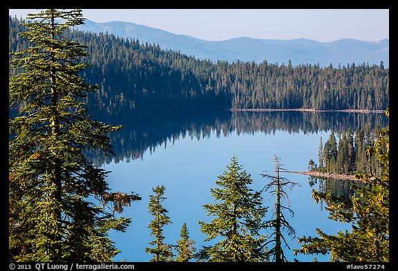 Juniper Lake and Mount Harkness. Lassen Volcanic National Park (color)
