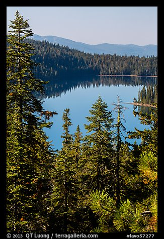 Juniper Lake from above. Lassen Volcanic National Park (color)