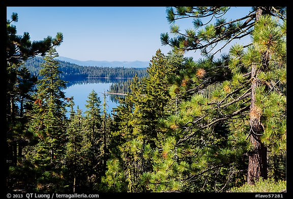Juniper Lake from Inspiration Point. Lassen Volcanic National Park (color)