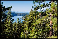 Juniper Lake from Inspiration Point. Lassen Volcanic National Park ( color)