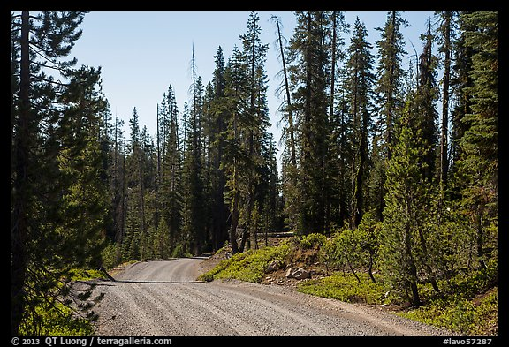 Gravel road. Lassen Volcanic National Park (color)