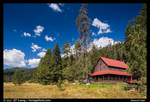 Drakesbad Ranch and Warner Valley. Lassen Volcanic National Park (color)