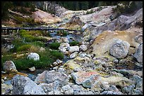 Sulfur deposits next to Hot Springs Creek. Lassen Volcanic National Park ( color)