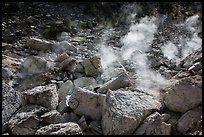 Fumaroles, Devils Kitchen. Lassen Volcanic National Park ( color)