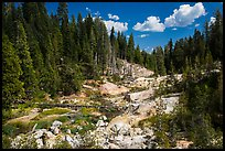 Hot Springs Creek, afternoon. Lassen Volcanic National Park ( color)