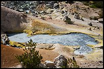 Boiling mud pot and colorful mineral deposits. Lassen Volcanic National Park ( color)