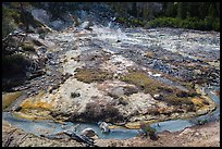 Stream and fumaroles, Devils Kitchen. Lassen Volcanic National Park ( color)