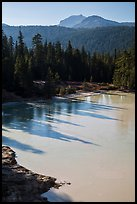 Shadows in Boiling Springs Lake and Lassen Peak. Lassen Volcanic National Park ( color)
