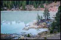 Boiling Springs Lake, Warner Valley. Lassen Volcanic National Park ( color)