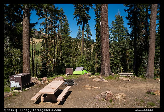 Southwest campground. Lassen Volcanic National Park (color)