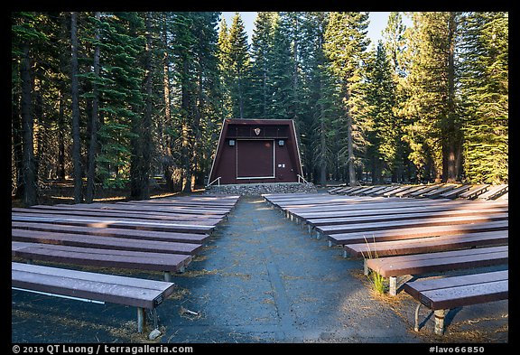 Amphitheater, Manzanita Lake Campground. Lassen Volcanic National Park (color)