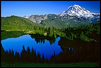Eunice Lake and Mt Rainier, afternoon. Mount Rainier National Park ( color)