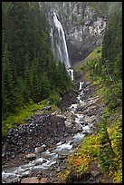 320-foot waterfall (Comet Falls). Mount Rainier National Park ( color)