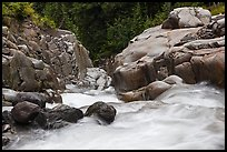 Water flowing down gorge. Mount Rainier National Park ( color)