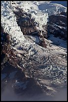 Glaciers, crevasses, and seracs. Mount Rainier National Park, Washington, USA. (color)