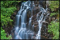 Waterfall over volcanic rock, Stevens Canyon. Mount Rainier National Park ( color)