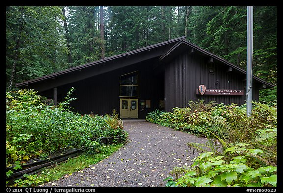 Ohanapecosh Visitor Center. Mount Rainier National Park (color)
