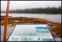 Reflection Lakes interpretive sign. Mount Rainier National Park ( color)