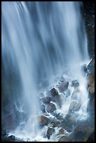 Water flowing at the base of Narada Falls. Mount Rainier National Park ( color)