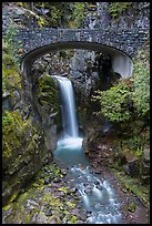 Bridge framing Christine Falls. Mount Rainier National Park ( color)