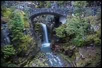 Road bridge and Christine Falls. Mount Rainier National Park ( color)