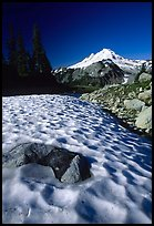 Neve and Mount Baker in the distance. Washington (color)