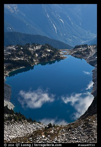 Hidden Lake, with clouds reflected, North Cascades National Park.  (color)