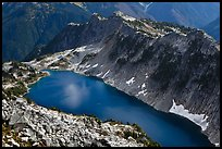 Hidden Lake from Hidden Lake Peak, North Cascades National Park.  ( color)