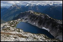 Hidden Lake and Glacier Wilderness Peaks, North Cascades National Park.  ( color)