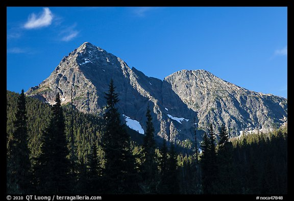Greybeard Peak, morning, North Cascades National Park.  (color)