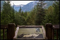 Picket Range interpretive sign, North Cascades National Park.  ( color)