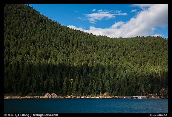 Ross Lake and resort, North Cascades National Park Service Complex.  (color)